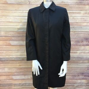 Kenneth Cole Long Black Jacket Coat Size Medium